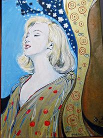 Hommage, Monroe, Klimt, Malerei