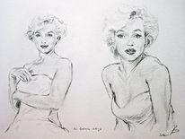 Monroe, Zeichnung, Portrait, Zeichnungen