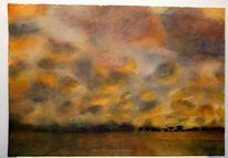 Abendlicht, Landschaftsmalerei, Landschaft, Afrika