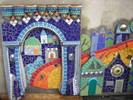 Häuser, Stadt, Mosaik, Puzzle