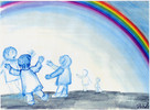 Regenbogen, Tanz, Himmel, Bunt