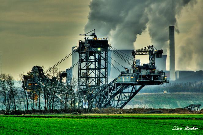 Pfeiler, Rheinbraun, Bagger, Energie, Strom, Fotografie