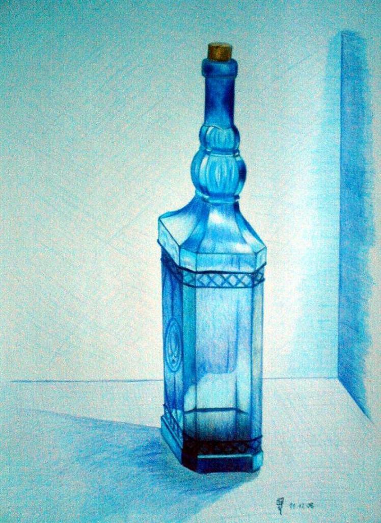 bild zeichnung zeichnungen stillleben flasche von tom bei kunstnet. Black Bedroom Furniture Sets. Home Design Ideas