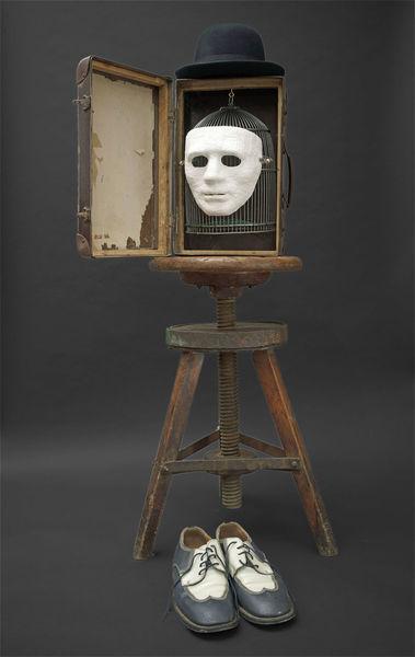 Wandlung, Koffer maske käfig, Tod, Plastik