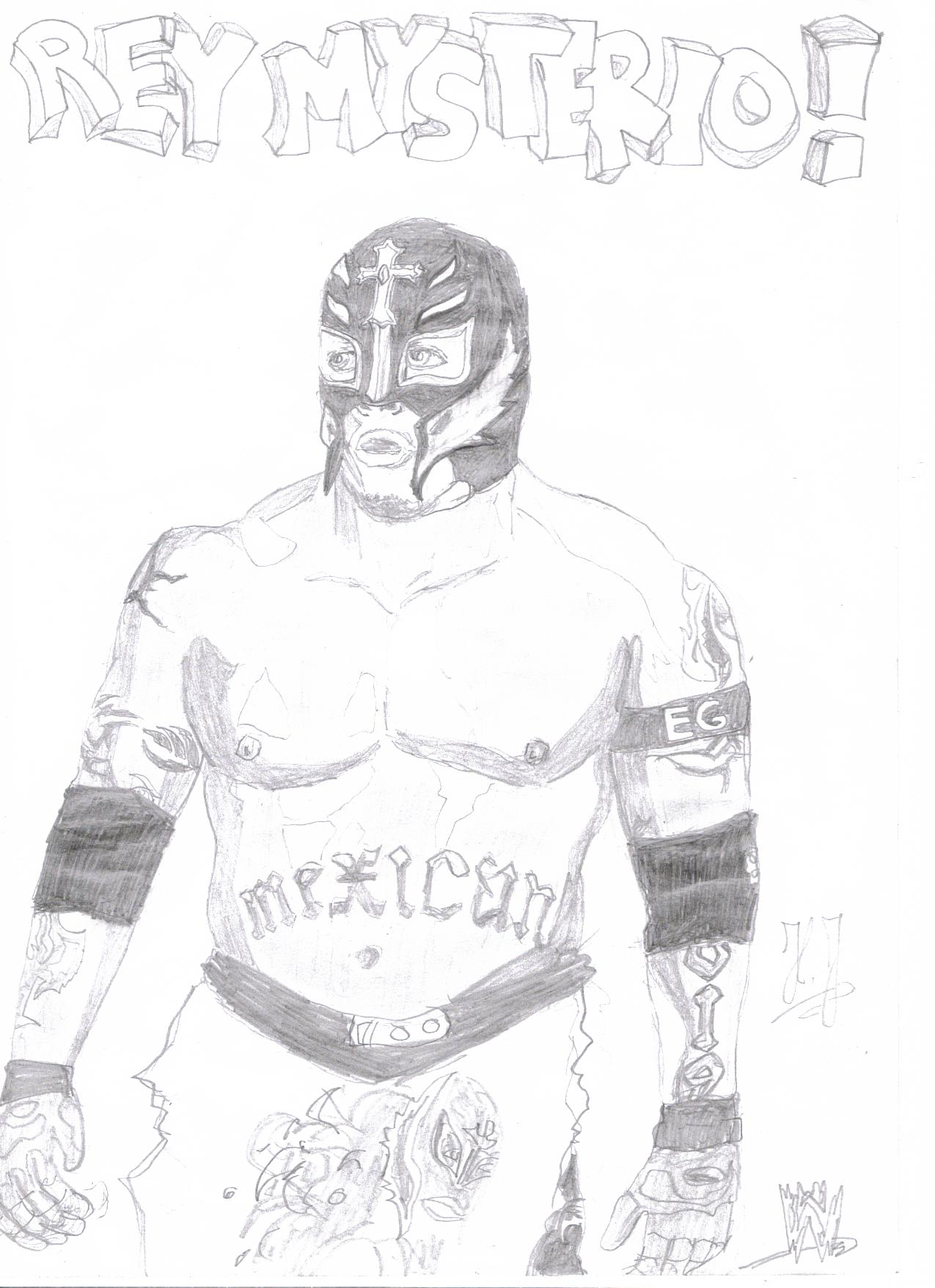 The gallery for --> Rey Mysterio Mask Drawing