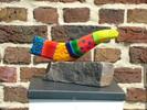 Farben, Plastik, Skulptur, Bruchstein