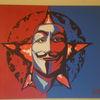 Vendetta, Acrylfarben, Maske, Gesicht