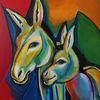 Bunt, Expressive malerei, Acrylmalerei, Tierportrait