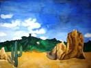 Wüste, Landschaft, Malerei