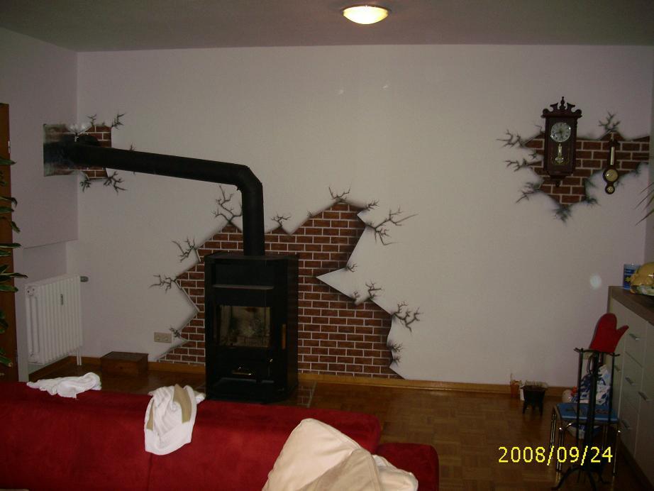 wand muss neu verputzt werden bild kunst von sphl bei kunstnet. Black Bedroom Furniture Sets. Home Design Ideas