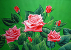 Acrylmalerei, Malerei, Figural, Blumen