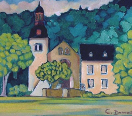 Landschaft, Malerei, Abtei