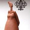 Figur, Gartenkeramik, Frauenfigur, Modelliert