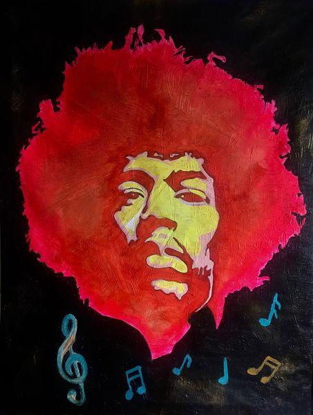 Handarbeit, Musik, Jimi hendrix, Malerei, Pop art, Hendrix