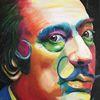 Malerei, Menschen, Acrylmalerei, Portrait