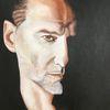 Depeche mode, Portrait, Sänger, Malerei