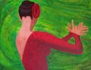 Malerei, Figural, Frau, Bewegung
