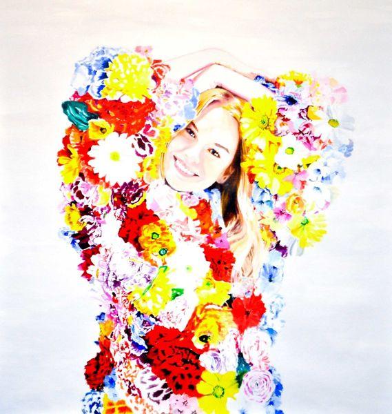 Blumen, Surrealistisch, Portrait, Farben, Antideterministisch, Frau