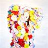 Blumen, Surrealistisch, Portrait, Farben