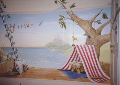 bild kinderzimmer wandmalerei malerei menschen von. Black Bedroom Furniture Sets. Home Design Ideas