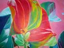 Malerei, Stillleben, Acrylmalerei, Pflanzen