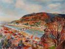 Malerei, Kanal, Pastellmalerei, Herbst
