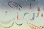 Skyline, Surreal, Aquarellmalerei, Abstrakt