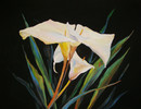 Pastellmalerei, Blumen, Abstrakt, Design