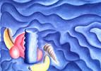 Zeichnungen, Abstrakt, Bleu