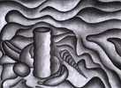 Zeichnungen, Abstrakt, Noir