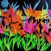 Blumen, Bunt, Neon, Malerei