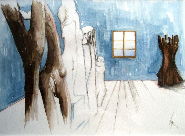 Aquarell, Atelier