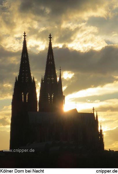 Wolkenschön, Dom, Sonne, Köln, Nacht, Wolken