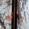Orange, Menschen, Schwarz, Abstrakte kunst