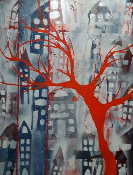 Orange, Nacht, Blau, Baum, Tag, Weiß