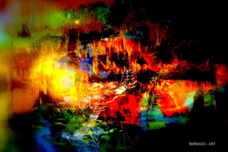 Gemälde, Gelb, Digitale kunst, Bunt, Lauer, Tumult