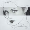 Portrait, Fotorealismus, Frau, Zeichnungen