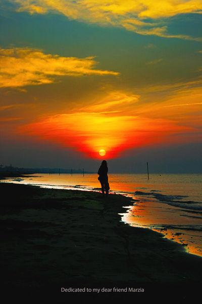 Strand, Salz, Kühl, Sonne, Italien, Wolken