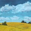 Pastellmalerei, Wolken, Landschaft, Feld