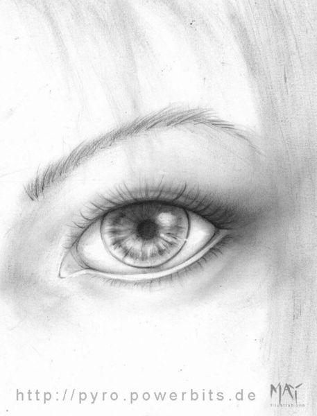 Augen, Weiblich, Anatomie, Dry brush, Zeichnungen