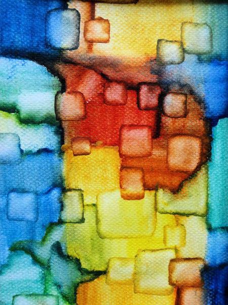 Fläche, Linie, Farben, Aquarell
