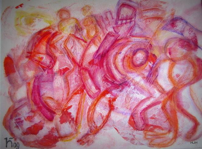 Tiere, Kämpfer, Waffe, Malerei, Abstrakt