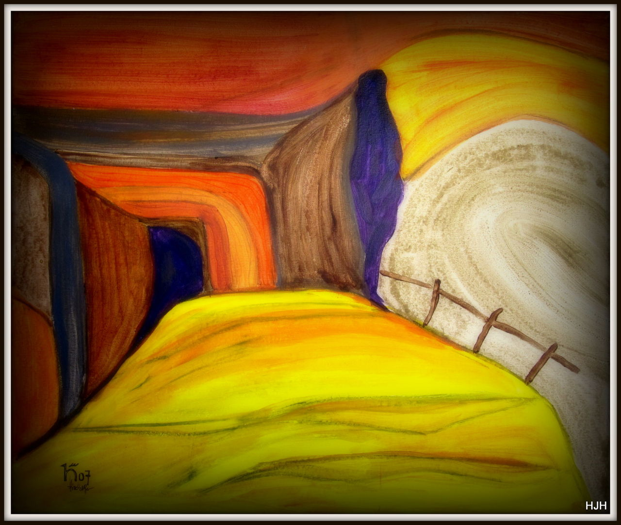 der w chter malerei w chter von hermann hirschberger on kunstnet. Black Bedroom Furniture Sets. Home Design Ideas