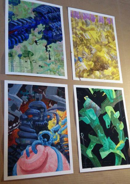 Zeichnung, Malen, Mauer, Malerei,