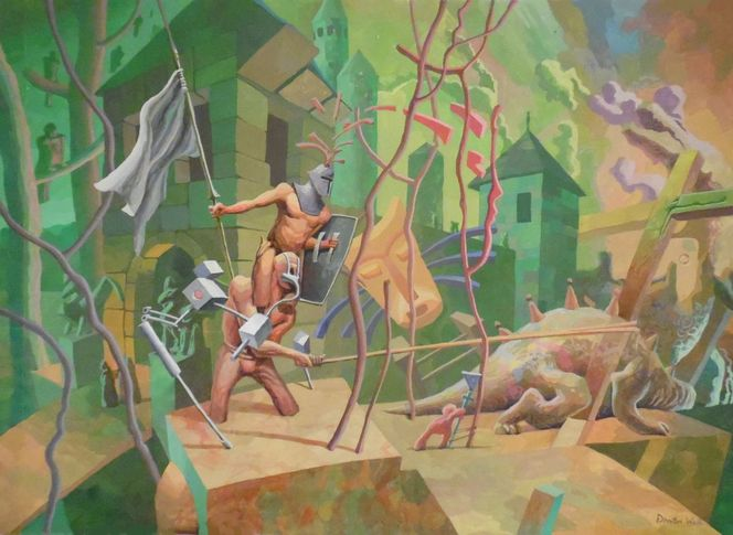 2013, 在歐洲藝術, Ölmalerei, Meteorit, Malerei, Surreal