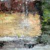 Abstrakte landschaft, Nicht gegenständlich, Malerei, Moderne malerei