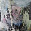 Abstrakte malerei, Nicht gegenständlich, Blau, Pastellmalerei