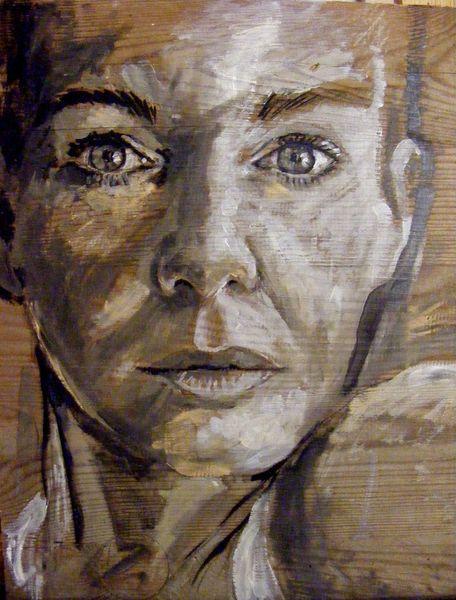 Ausdruck, Augen, Frau, Emotion, Menschen, Malerei