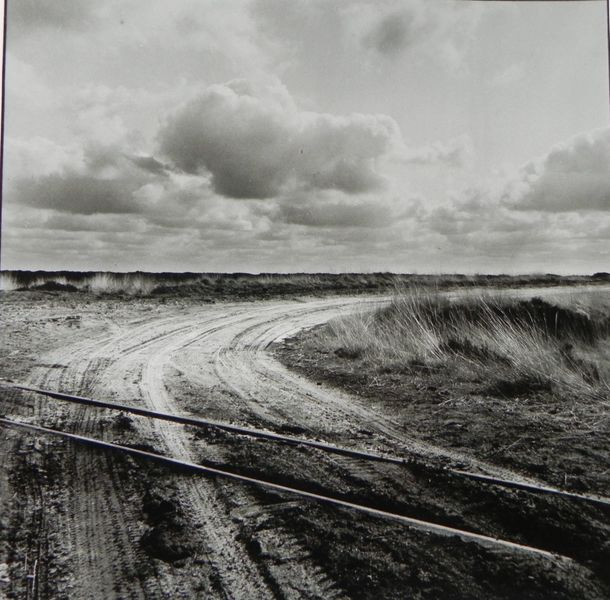 Weg, Kreuzweg, Schiene, Wolken, Moor, Spuren