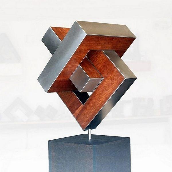 Skulptur, Begegnung, Bewegung, Stahlskulptur, Konstruktion, Entfaltung